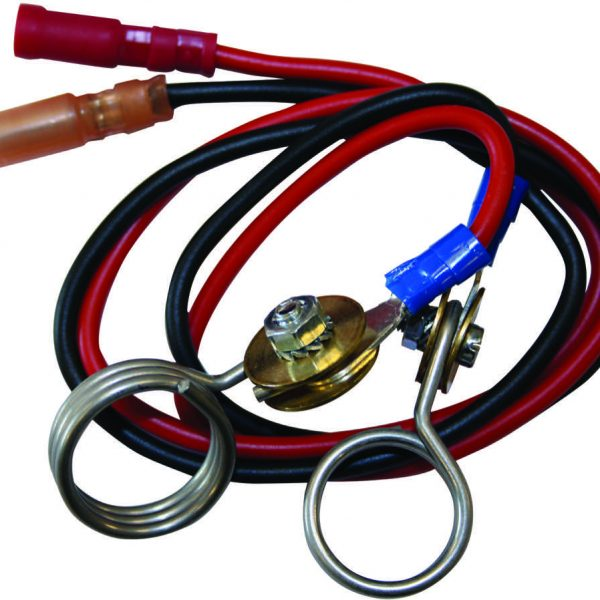 1347 - Agrifence - 9-12v Battery Leads Spring Clip Connection