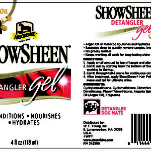 5668 - Absorbine - ShowSheen Moisturising Detangler Gel - Label