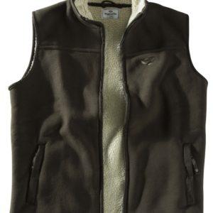 Mustang Fleece Waistcoat (Dark Brown)