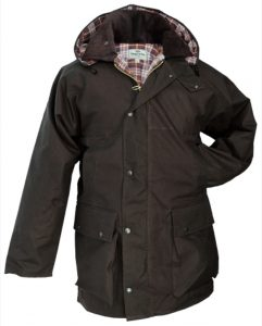 Hoggs of Fife Padded Waxed Jacket Brown