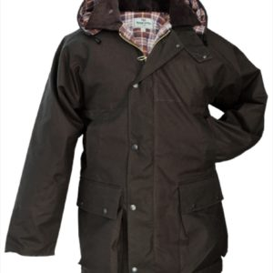 Padded Waxed Jacket (Brown) (p35)