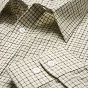 Poly-Cotton Country Check Shirt (Brown_Green) (p53)