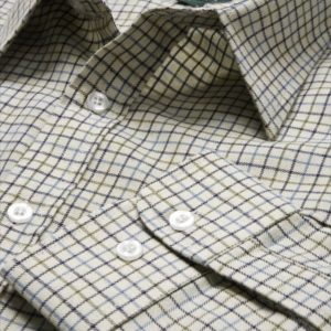 Poly-Cotton Country Check Shirt (Navy_Blue_Green) (p53)