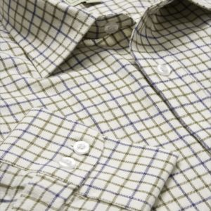 Pure Cotton Tattersall Shirt (Navy_Olive) (p27)