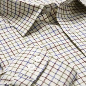 Pure Cotton Tattersall Shirt (Wine_Blue_Green) (p27)