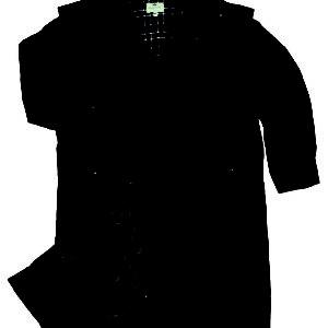 Waxed Long Coat (Navy) (p35)