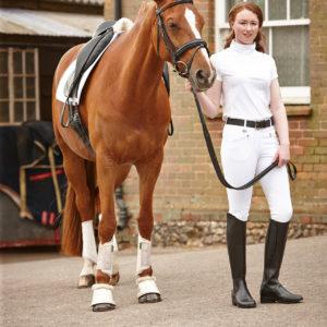 DUB_Paula_Short_Sleeve_Shirt_White with horse