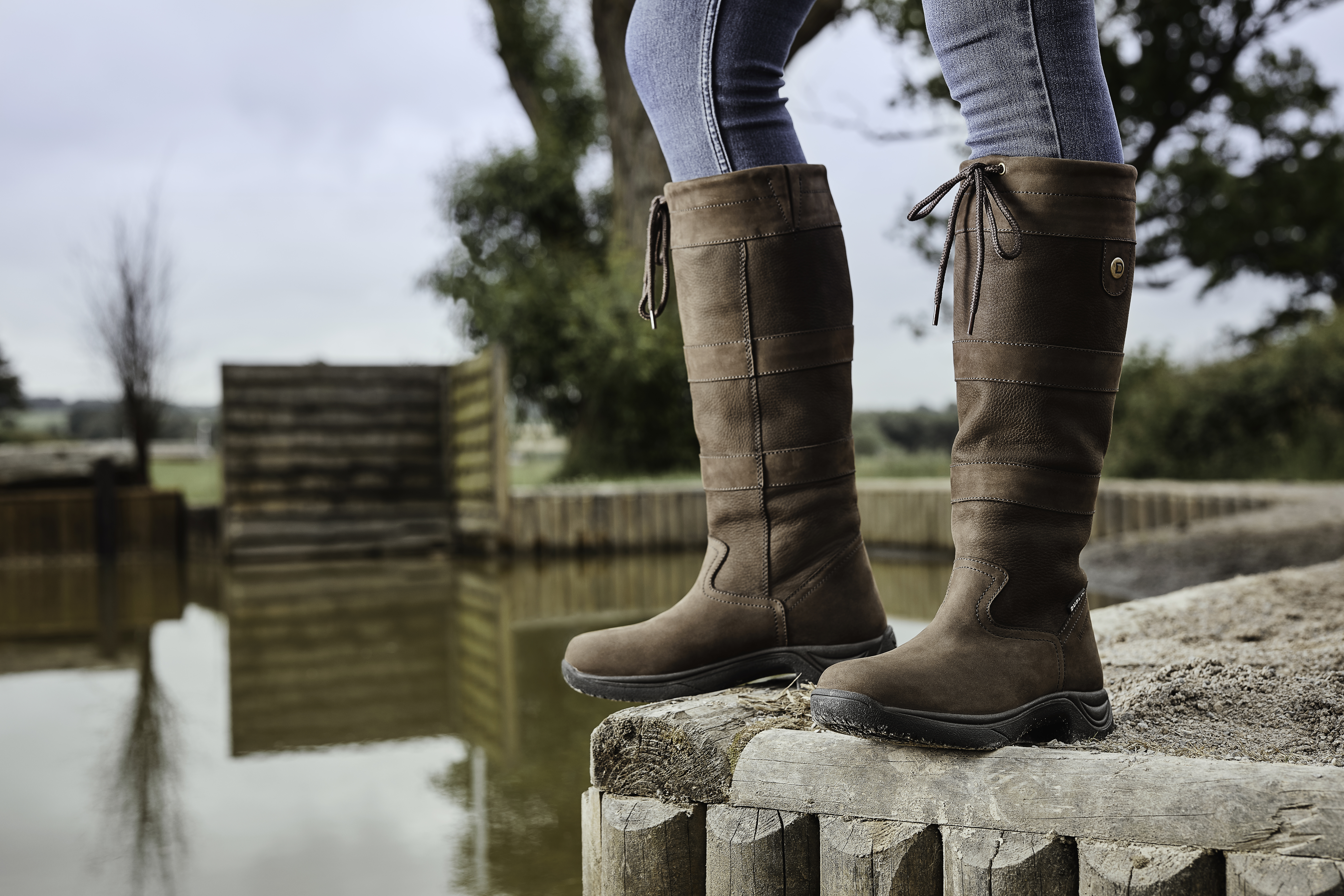 21e04a67b2 Dublin River Boots Long Leather Country Boots
